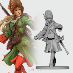 Natasha the Russian Grenadier (54mm resin)