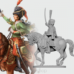 Victoria the French Hussar (28 mm metal)