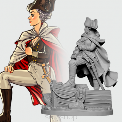 Georgette the General (54mm resin)