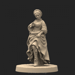Metal miniature - Courtesan