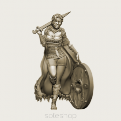 Lagertha II (54mm resin) the Shieldman