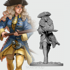 Astrid from Swedish Infantry (54mm resin)