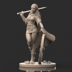 Lagertha (54mm resin) the Shieldman