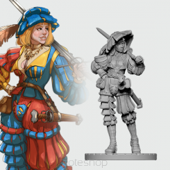Greta the Landsknecht (54mm resin)