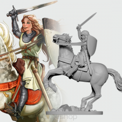 Eleanor the Crusader (54mm resin)