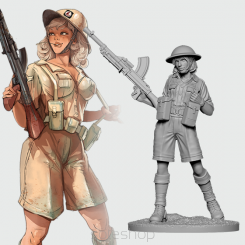 Emma the Desert Rat (54mm resin)