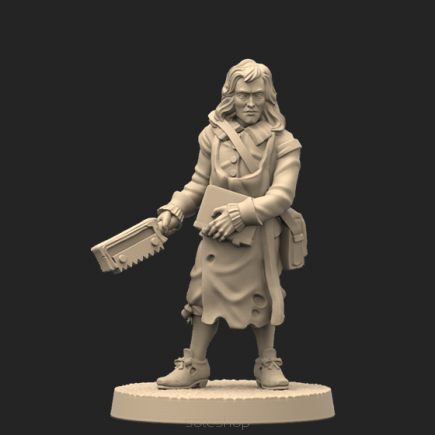 Metal miniature - Newton