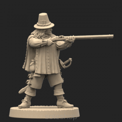 Metal miniature - Musketeer 2