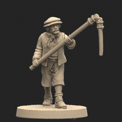 Metal miniature - Peasant 1