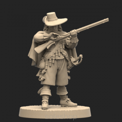 Metal miniature - Musketeer 3