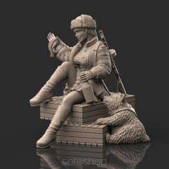 Marusha of the Red Army (54mm resin)