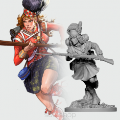 Fiona from 42nd Highlanders (28 mm metal)