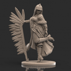 Olenka (54mm resin) the Winged Hussar Girl