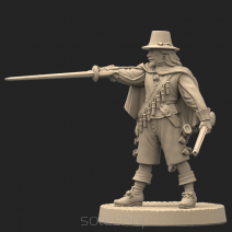Metal miniature - Musketeer 1