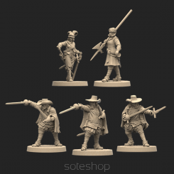 Veterans of the Tercio - 5 miniatures (plastic)