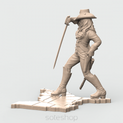 Dixie (54mm resin) from The Confederate Cavalry