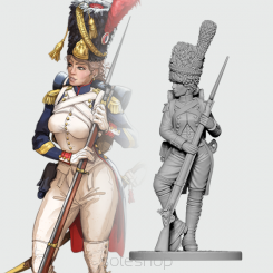 Celine the Old Guard Grenadier (54mm resin)